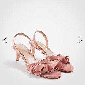 Ann Taylor Dinah Pink Suede heels